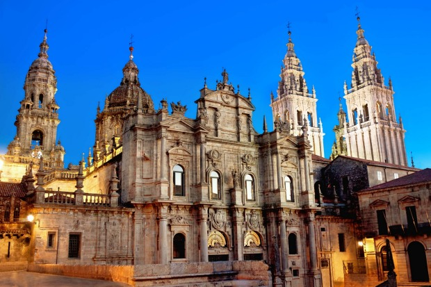 The apostle St James (Santiago in Spanish) is reputedly buried in the Santiago de Compostela's cathedral, ultimate ...