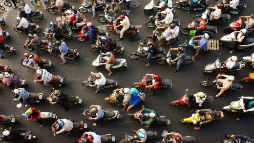 The streets of Ho Chi Minh, in Vietnam, must rank as some of the world's most chaotic.