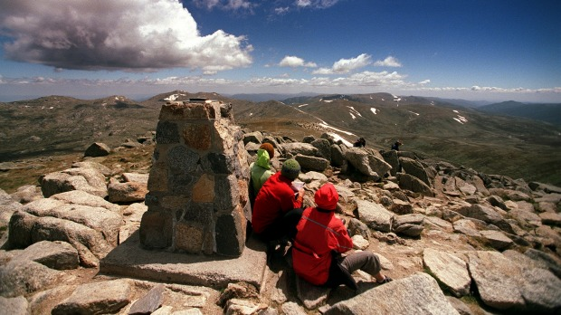 Mount Kosciuszko from its summit.