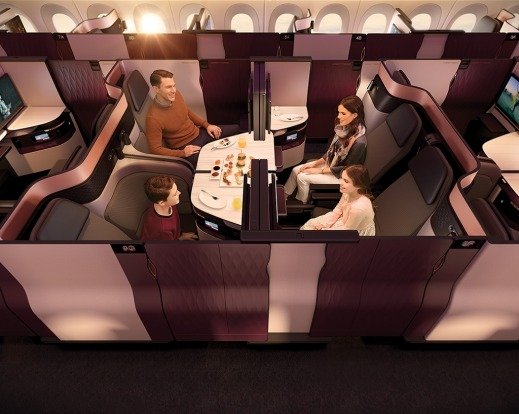 No.1 - Qatar Airways' business class seat, the 'QSuite', on board its A380.