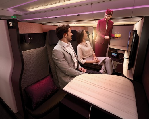 The best business class airlines named in the Skytrax World Airline Awards: No.1 - Qatar Airways. Pictured: The new ...