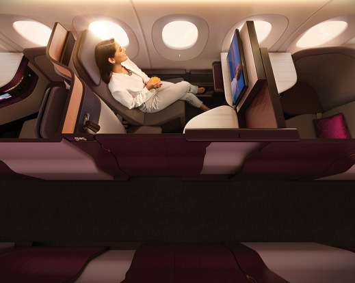 No.1 - Qatar Airways' business class seat, the 'QSuite'.