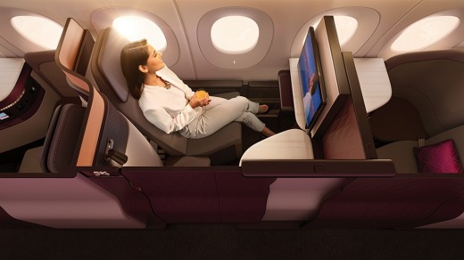 Qatar Airways' new business class seat, the 'QSuite', is setting the pace for others in the industry.