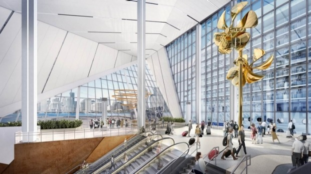 A rendering of Royal Caribbean's new terminal currently under construction: Terminal A at Port Miami will be home to the ...