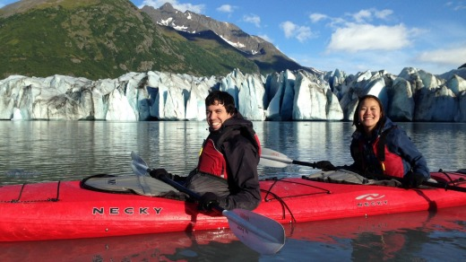 The plan is to kayak to two of the bay's most impressive glaciers.