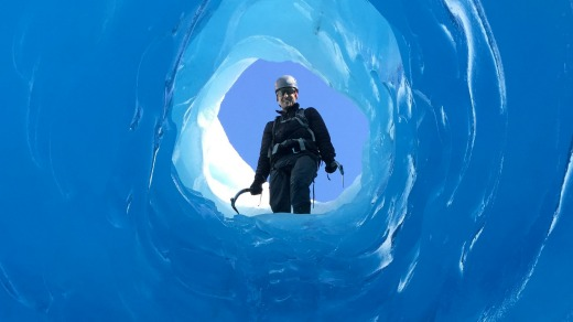 We clear the glacier's dirty lower slopes and plunge into a magical frozen world of caves.