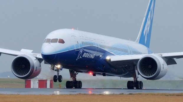 A 787 Dreamliner touches down. An all-new aircraft designed to fly from the US to Europe will fill the gap between the ...