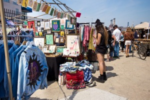 The famous Brooklyn Flea Market in Williamsburg.