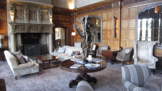 The very cosy Bovey Castle.