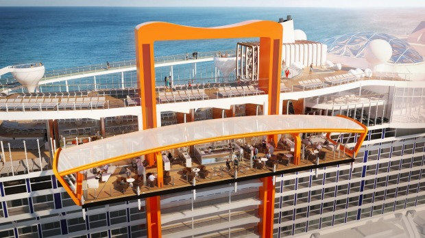 Another innovative new feature of Edge is Magic Carpet, a 90-tonne platform the size of a tennis court that is ...