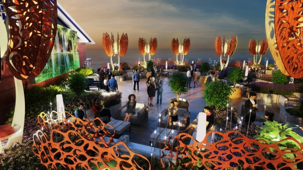 Rooftop garden on Celebrity Cruises' new Celebrity Edge ship.