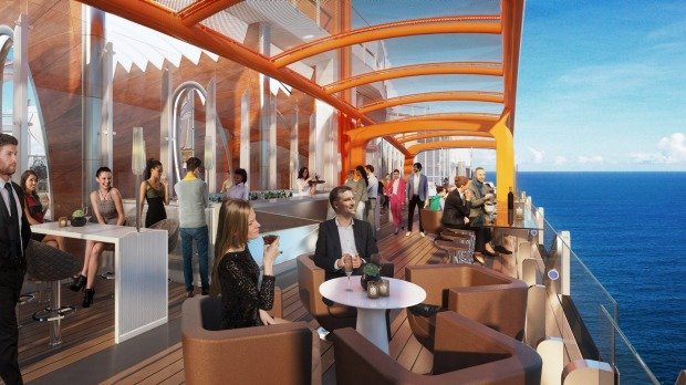 Magic Carpet bar on Celebrity Cruises' new Celebrity Edge ship.
