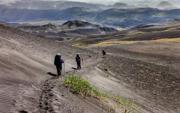 LAUGAVEGURINN, ICELAND: This four-day, 80-kilometre trek starts at Skógar in the south and heads north to ...