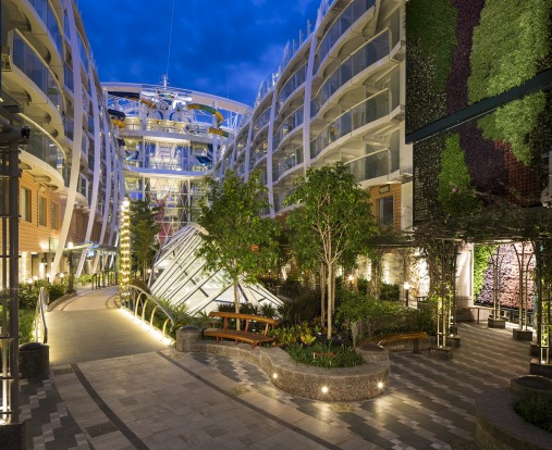 Central Park on Harmony of the Seas: The latest mega-ship from Royal Caribbean also floated out in May and impresses ...