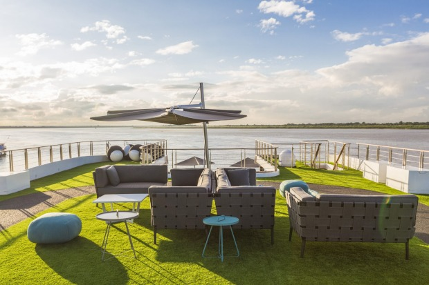 Sun deck on Scenic Aura: New on the Irrawaddy River from September 2016, this river-cruise ship sets a new style on the ...