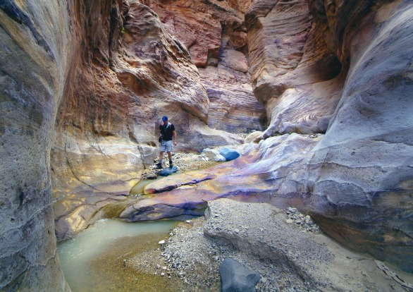 WADI DANA, JORDAN: After a killer one-hour descent, this 16-kilometre day hike leads you through Jordan's biggest nature ...