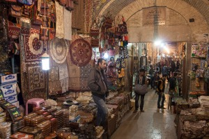People in a bazaar in Shiraz.