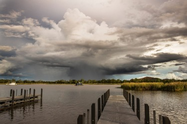 Stormy weather in Kununurra, Western Australia.