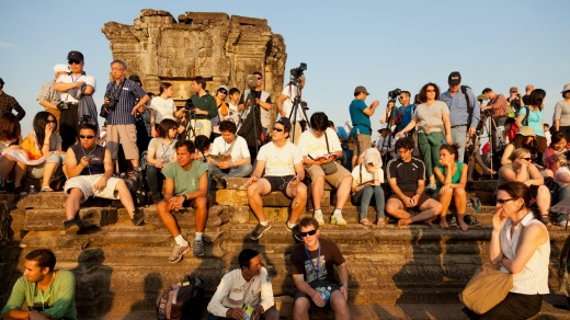 Angkor Wat has limited the number of tourists allowed to watch the sunset from the top of Phnom Bakheng.