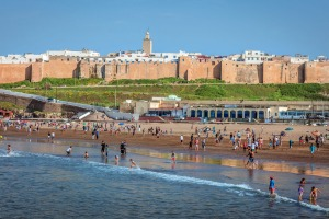 Kasbah des Oudaias beach in the city of Rabat.