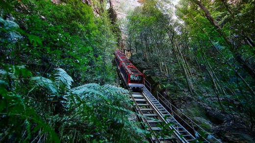 The Scenic Railway – aka the roller coaster on the side of a cliff – has only been improved over time.