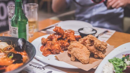 Fried chicken is a Korean favourite.