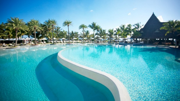 Lux Belle Mare's swimming pool is reportedly the largest in the country.