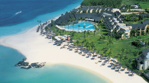 Lux Belle Mare resort, Mauritius, sits on a stretch of white sand protected by a lagoon.