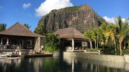 The mountain as seen from Lux Le Morne resort.