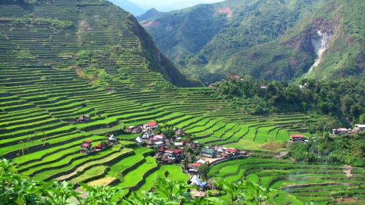 Batad village is located among the rice terraces on Banaue, Philippines.