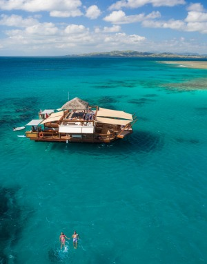 Fiji boasts one of the most incredible floating bars in the world, Cloud 9.