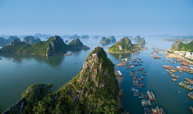 Halong Bay in Vietnam with Coral Expeditions.