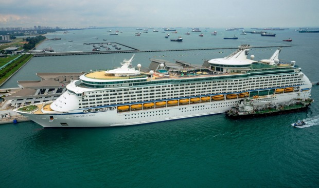 RCI's Voyager of the Seas at Marina Bay Cruise Centre in Singapore.