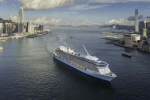 Quantum of the Seas on the move.
