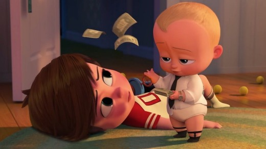 <i>The Boss Baby</I> was the most-watched film on board Qantas flights last year.