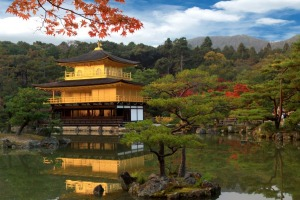 Kinkaku-ji, the Golden Pavillion, is one site to visit in Kyoto.