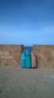My alltime favourite place in Morocco was Essaouira. On a perfect day these three women were out enjoying the view of ...