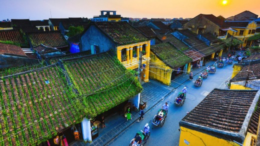 Tour the streets of Hoi An.