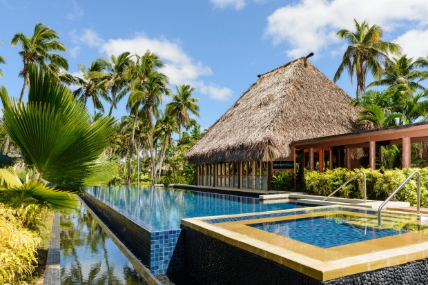 The Westin Denarau Island Resort's Heavenly Spa offers 10 open-air treatment rooms made of wood, thatch and river stones.