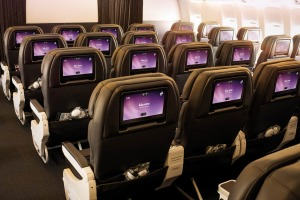 The middle seat is still comfortable in Air New Zealand's premium economy.