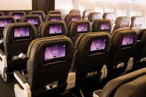 Air New Zealand's economy cabin on the Boeing 787-9.