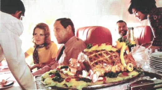 Slice of ham? Singapore Airlines' gourmet in-flight meal in 1979.