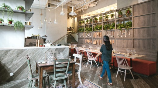 The breakfast menu at Grassroots Pantry is littered with innovative vegetarian dishes.