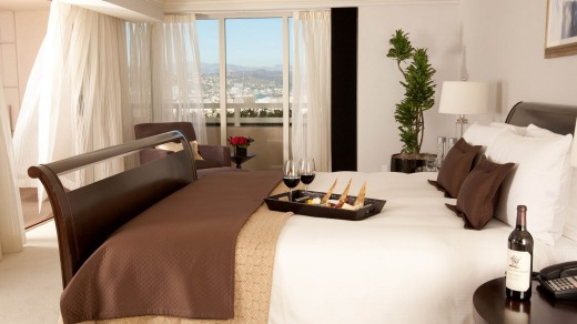 A room at the Intercontinental Century City, Los Angeles.