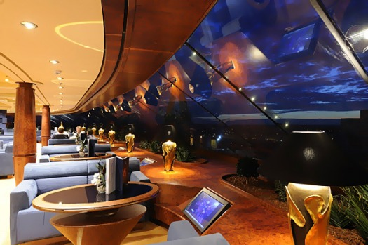 The most elegant part of the ship is the Top Sail Lounge, which is in the exclusive six-star area known as MSC Yacht ...