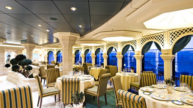 The L'olivo restaurant on board.