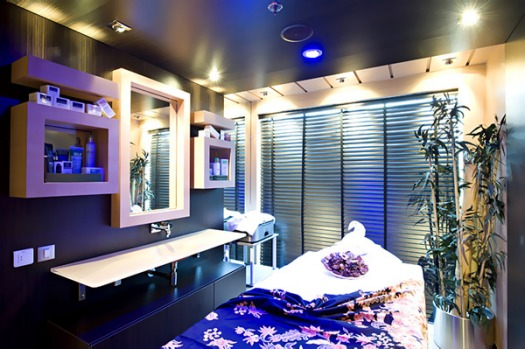 The Aurea Spa massage room.