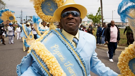 New Orleans Second Line Parade.