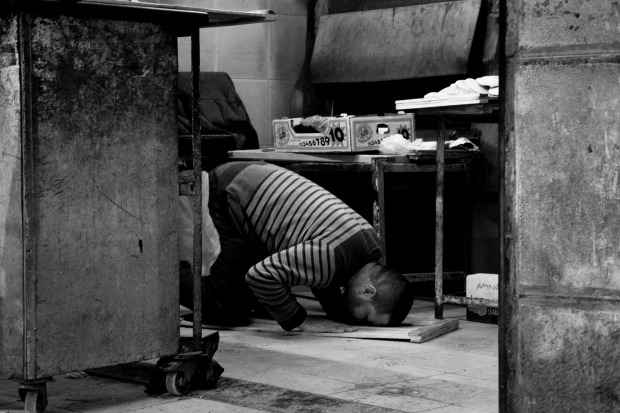 In Nablus, Palestine, it does not matter where you are or what you are doing, prayers always come first.