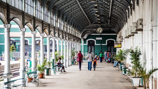 Maputo's ornate railway station.